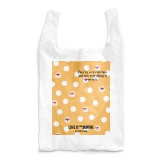 文鳥の顔ドット Reusable Bag