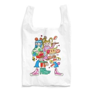 いっぱい食べよう🍩🍣🍰 Reusable Bag