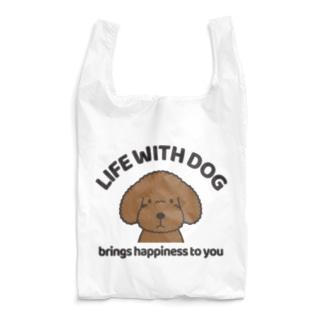 efrinmanの犬と共に(トイプー/赤系)  Reusable Bag