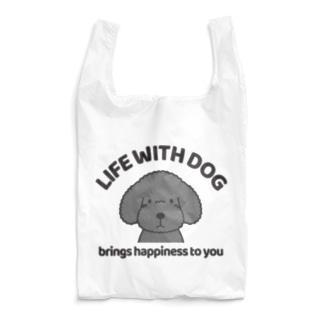 efrinmanの犬と共に(トイプー/黒系)  Reusable Bag