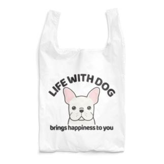 犬と共に(フレンチブル/白系)  Reusable Bag