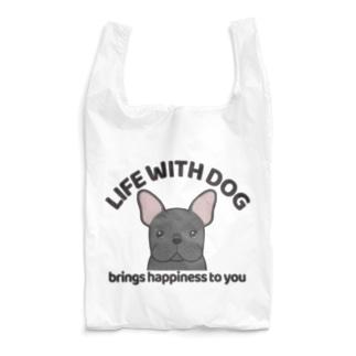 犬と共に(フレンチブル/黒系)  Reusable Bag