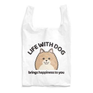 efrinmanの犬と共に(ポメラニアン/茶系)  Reusable Bag