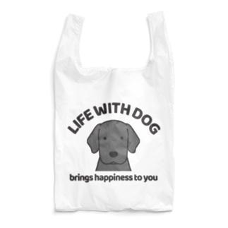 犬と共に(ラブ/ブラック)  Reusable Bag