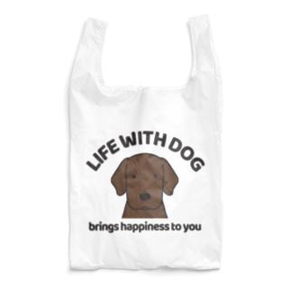 犬と共に(ラブ/チョコ)  Reusable Bag