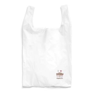 羊毛フェルトのMOFFU.(もっふ)のあいらぶカワウソ Reusable Bag