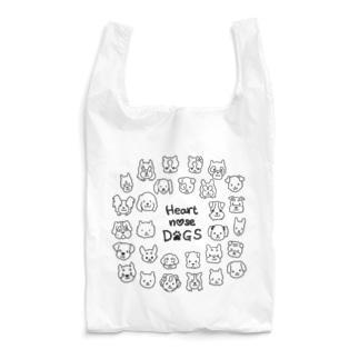 Heart nose DOGS(丸型) エコバッグ Reusable Bag