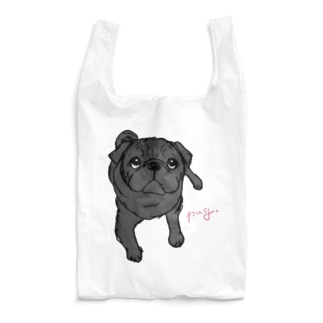 pug(黒パグ) Reusable Bag