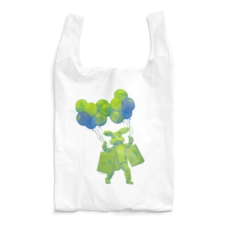 うさぎさんのお買い物 グリーン Reusable Bag