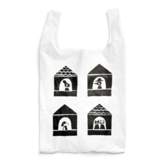 猫と犬とうさぎと、鳥の家。(片岡商店) Reusable Bag