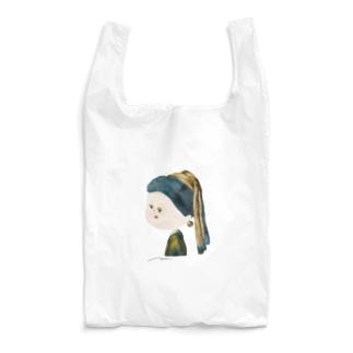 真珠の耳飾りの少女 by mmmm Reusable Bag