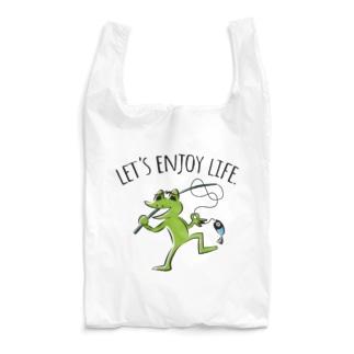 カエル人生釣りで楽しもう Reusable Bag