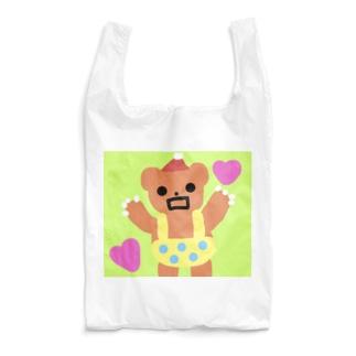 永遠にんにくガールworldのがお〜くまちゃん🐻⚡️ Reusable Bag