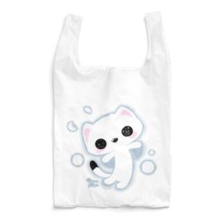 MicaPix/SUZURI店のラッキー雪おこじょ Reusable Bag