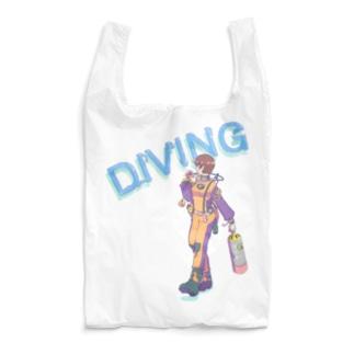 ドライスーツダイバー女子 Reusable Bag
