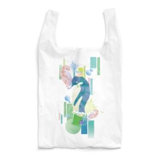 ペンギンTeaTime(ターコイズ) Reusable Bag