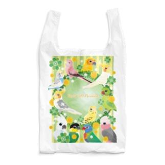 クローバーとオウム&インコ Reusable Bag