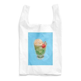 水色 手作りクリームソーダ Reusable Bag