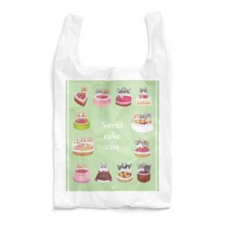 猫ホールケーキ大集合なグッズ Reusable Bag