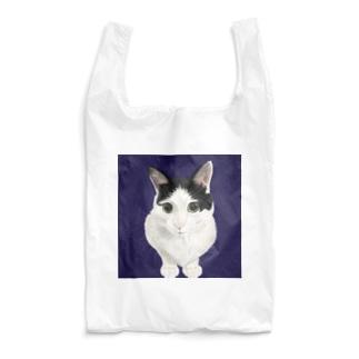 ハチワレねこのくう(おすまし) Reusable Bag