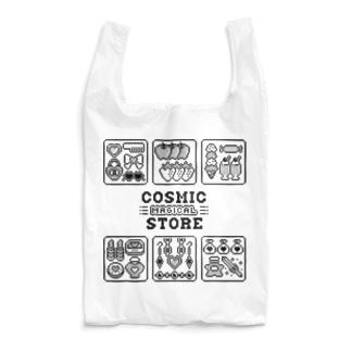 8bit♡マジカルストア モノクロ Reusable Bag