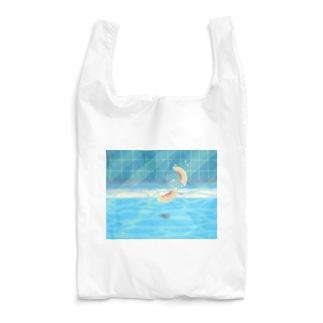夏のプールに飛び込んだ(桃) Reusable Bag