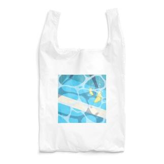 夏のプールに飛び込んだ(レモン) Reusable Bag