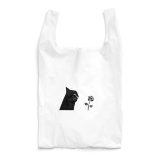 猫と花 Reusable Bag