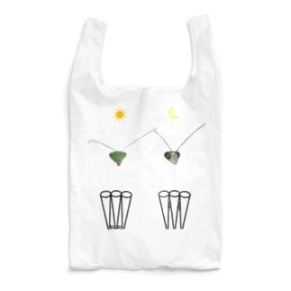 カマキリの昼と夜の複眼(絵文字、背景透過ver) Reusable Bag