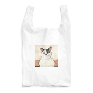 鼻ブチ猫ちゃんスケッチ風 Reusable Bag