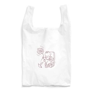 花を掴む偉い赤ちゃん Reusable Bag