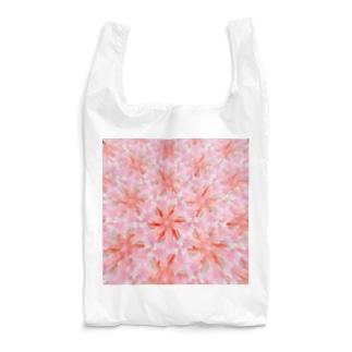 ピンク肩車ンちゃん模様 Reusable Bag