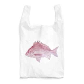 手書きの赤鯛 Reusable Bag