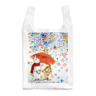 ボールペン画のイラストレーター・白石拓也の雨紫陽花 Reusable Bag