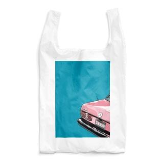 PINK VINTAGE CAR Reusable Bag