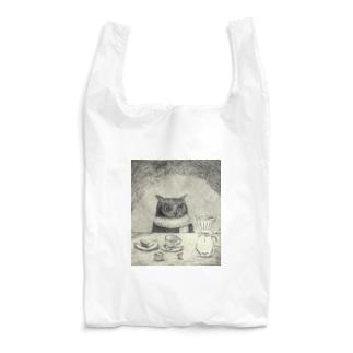 コーヒー待ちのフクロウ Reusable Bag