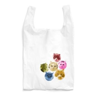 6色の猫団子 Reusable Bag