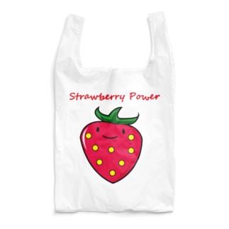 ストロベリーパワー #いちごの日 Reusable Bag