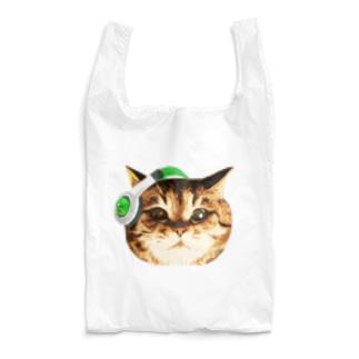 猫DJ(顔だけのやつ)ver.2 Reusable Bag