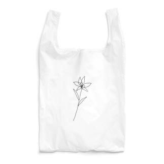 flower black Reusable Bag