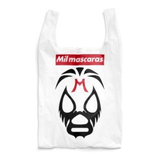 MIL MASCARAS-ミル・マスカラス-赤ボックスロゴ Reusable Bag