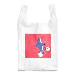 ハーレーに乗るメガロドン Reusable Bag