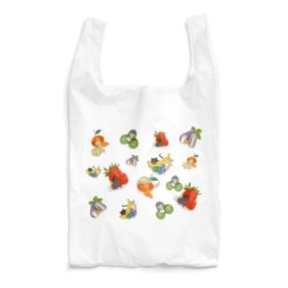 フルーツわんにゃん盛りだくさん Reusable Bag