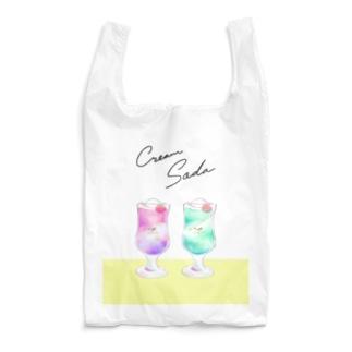 喫茶polaris/クリームソーダ・ダブル Reusable Bag