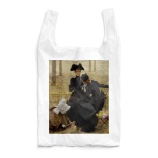 世界の絵画アートグッズのヴィットリオ・マッテオ・コルコス 《リュクサンブール公園での会話》 Reusable Bag