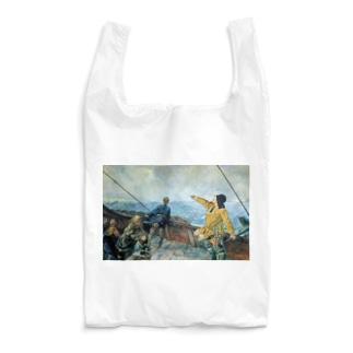 世界の絵画アートグッズのクリスチャン・クローグ《アメリカを発見したレイフ・エリクソン》 Reusable Bag