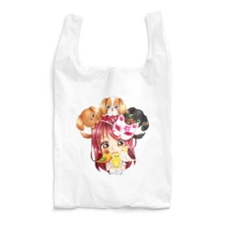 ハッピーアニマル(初期限定デザイン キャバリア・インコ・犬・鳥) Reusable Bag