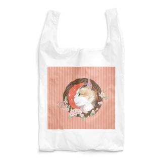 桜と三毛猫  Reusable Bag