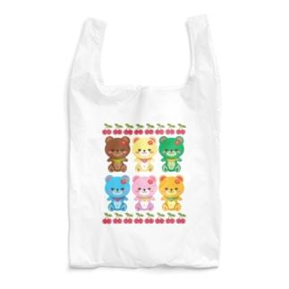 さくらんぼとクマちゃん Reusable Bag