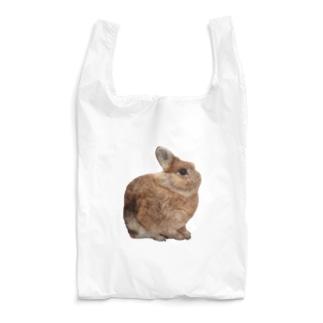 羊毛フェルトのふわふわ野うさぎ Reusable Bag